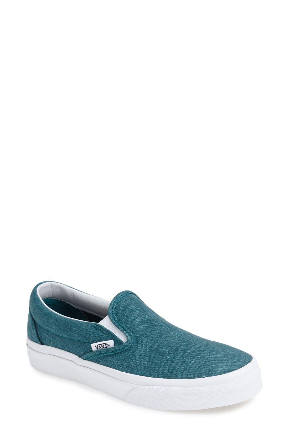 Alternate Image 1 Selected - Vans Washed Canvas Slip-On Sneaker (Women)
