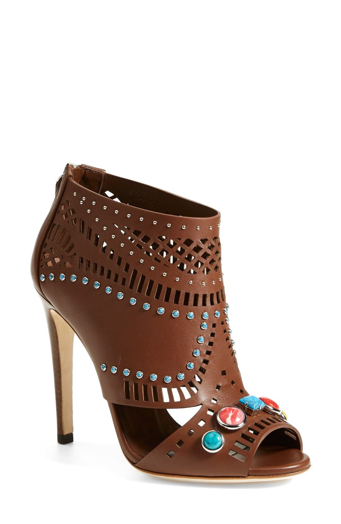 Main Image - Gucci 'Lika' Stone Detailed Bootie (Women)