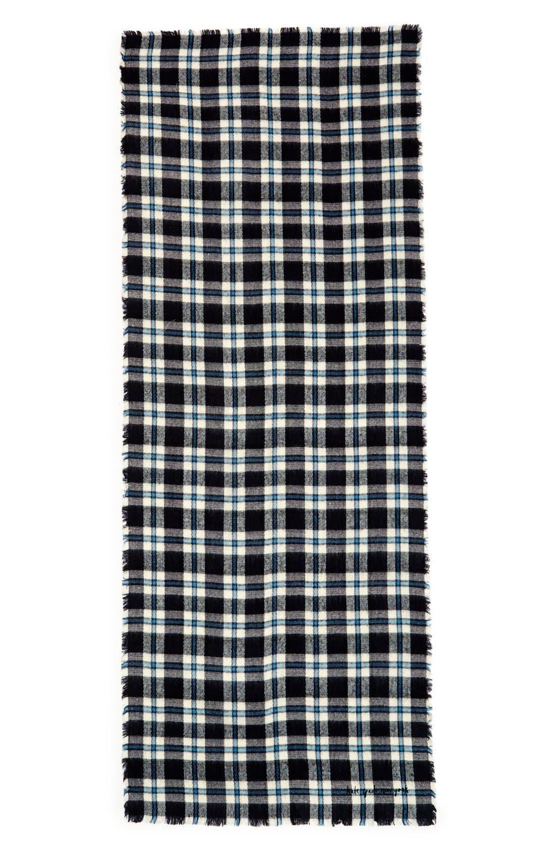 Alternate Image 2  - kate spade new york plaid blanket scarf