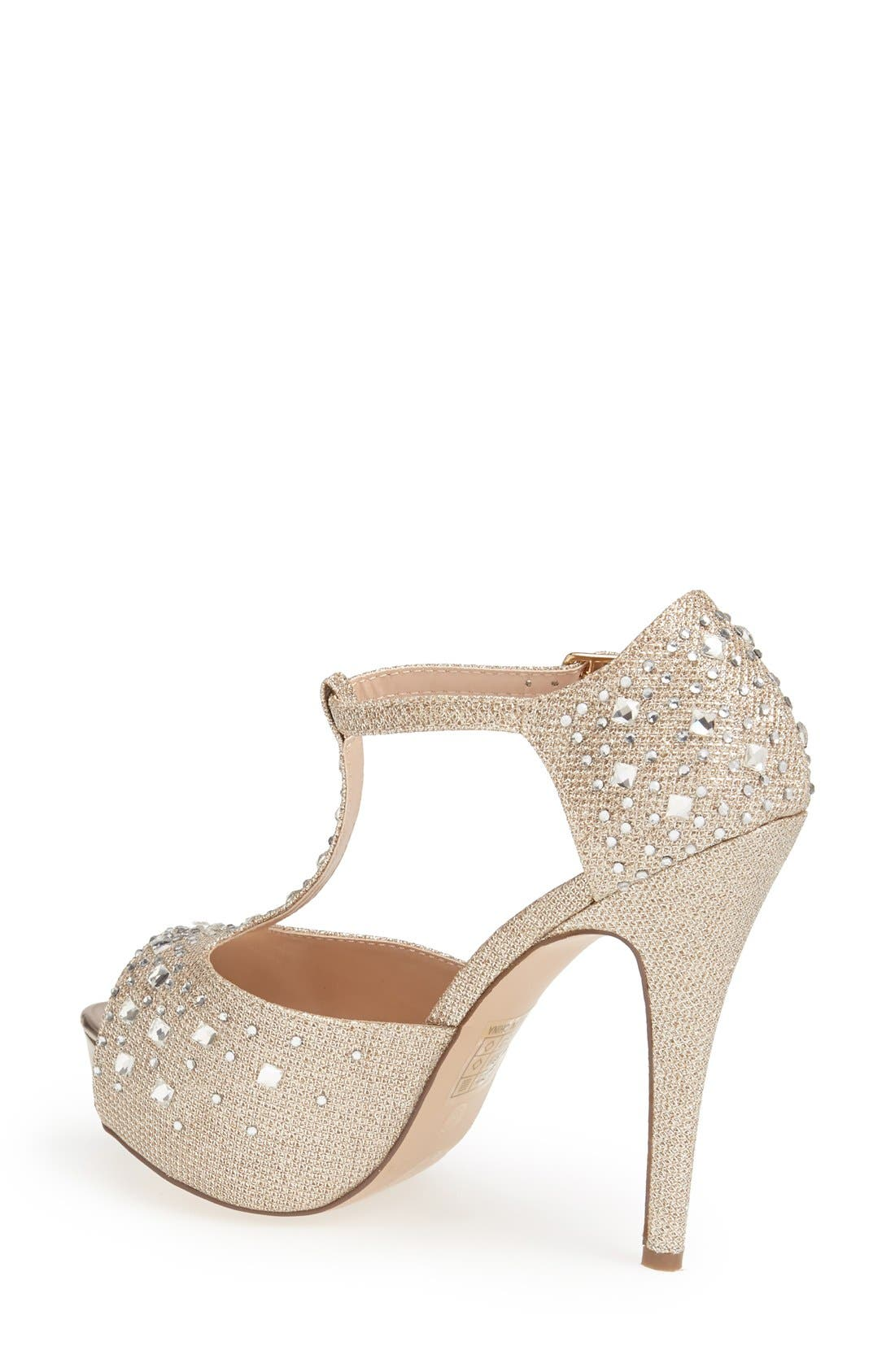 Alternate Image 2  - Lauren Lorraine 'Vivian' Crystal Platform Pump (Women)