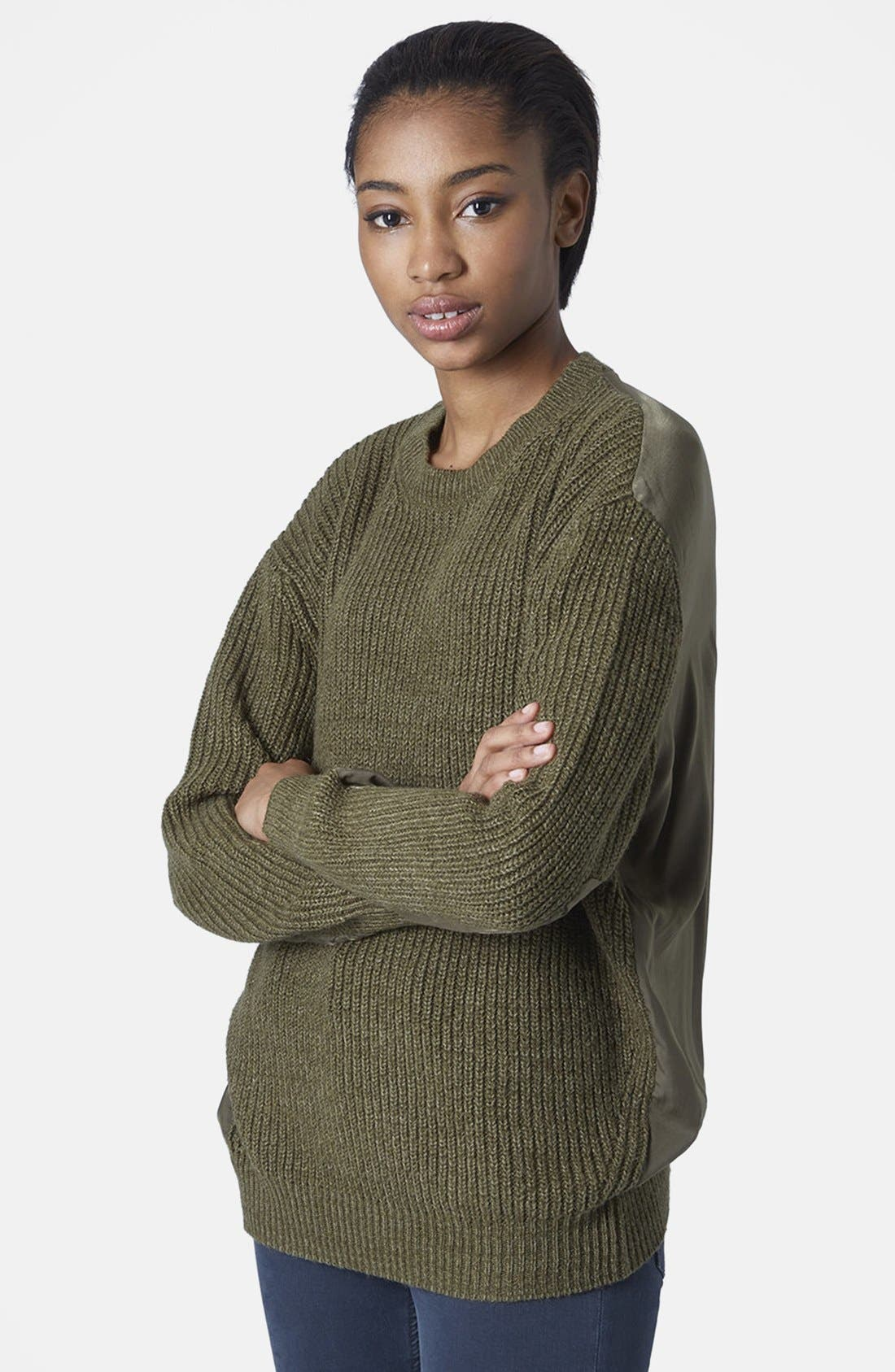 Main Image - Topshop Hybrid Rib Sweater