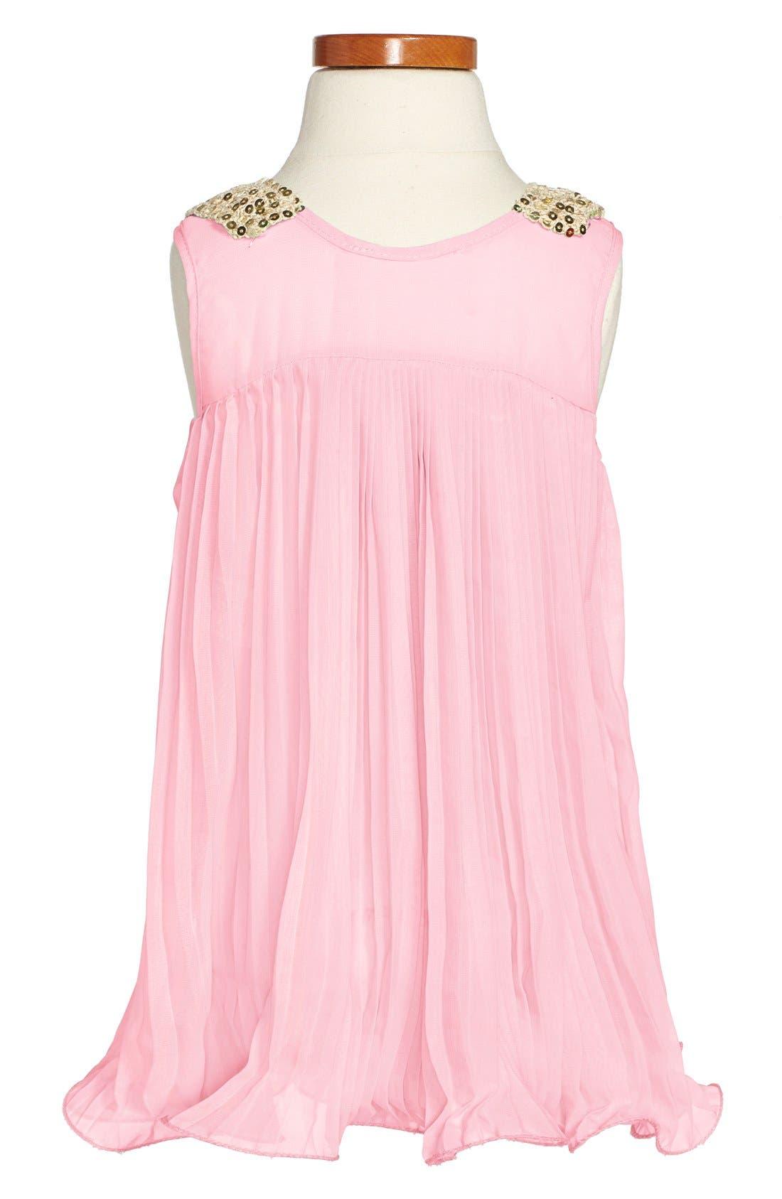 Alternate Image 2  - Popatu Pleated Sleeveless Dress (Toddler Girls & Little Girls)