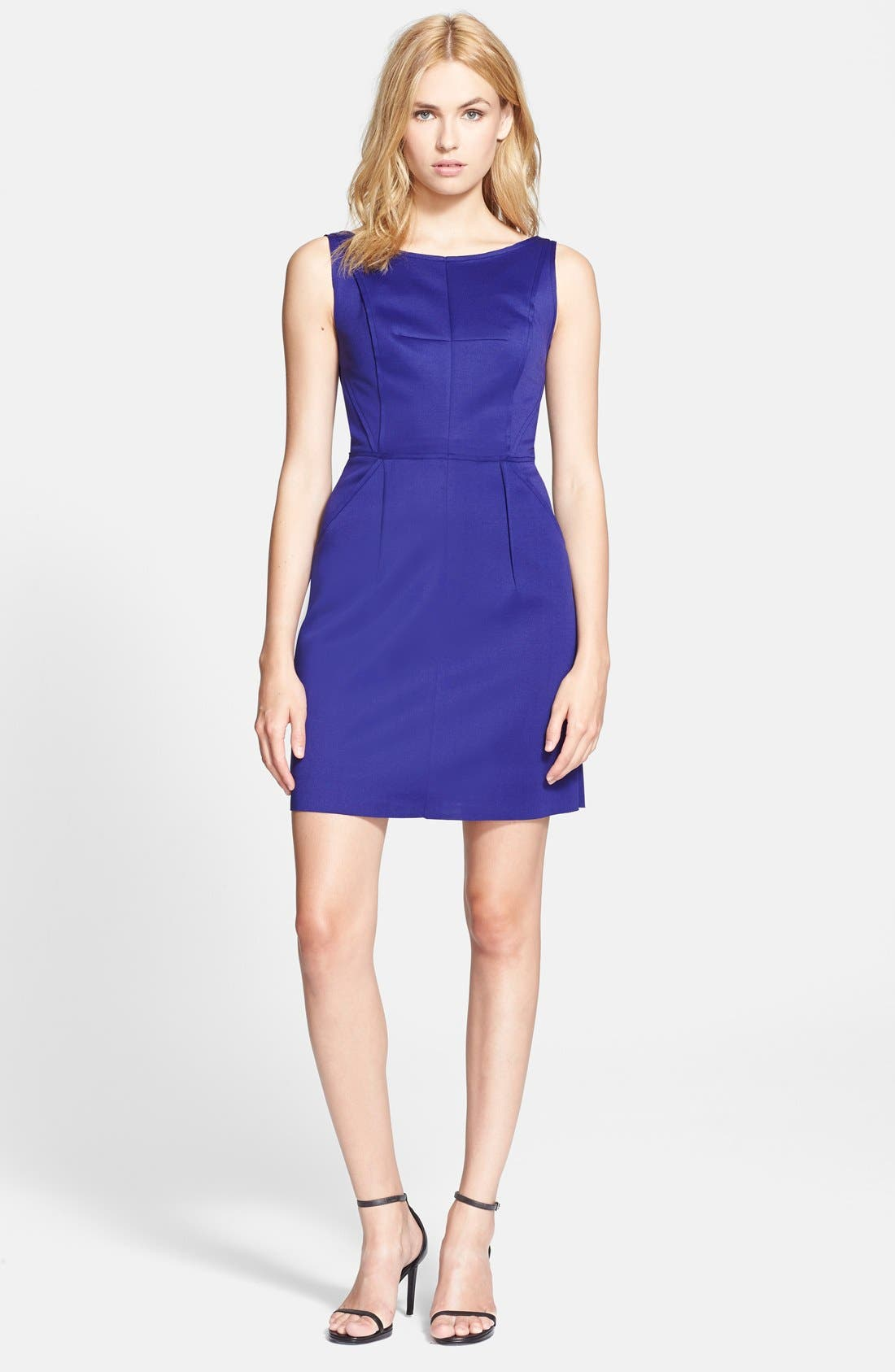 Alternate Image 1 Selected - Milly Seamed Detail Shift Dress