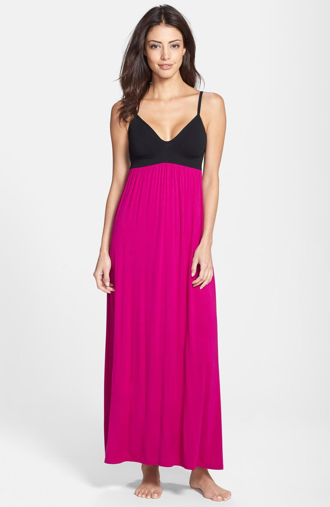 Alternate Image 1 Selected - Donna Karan Liquid Jersey Empire Waist Nightgown