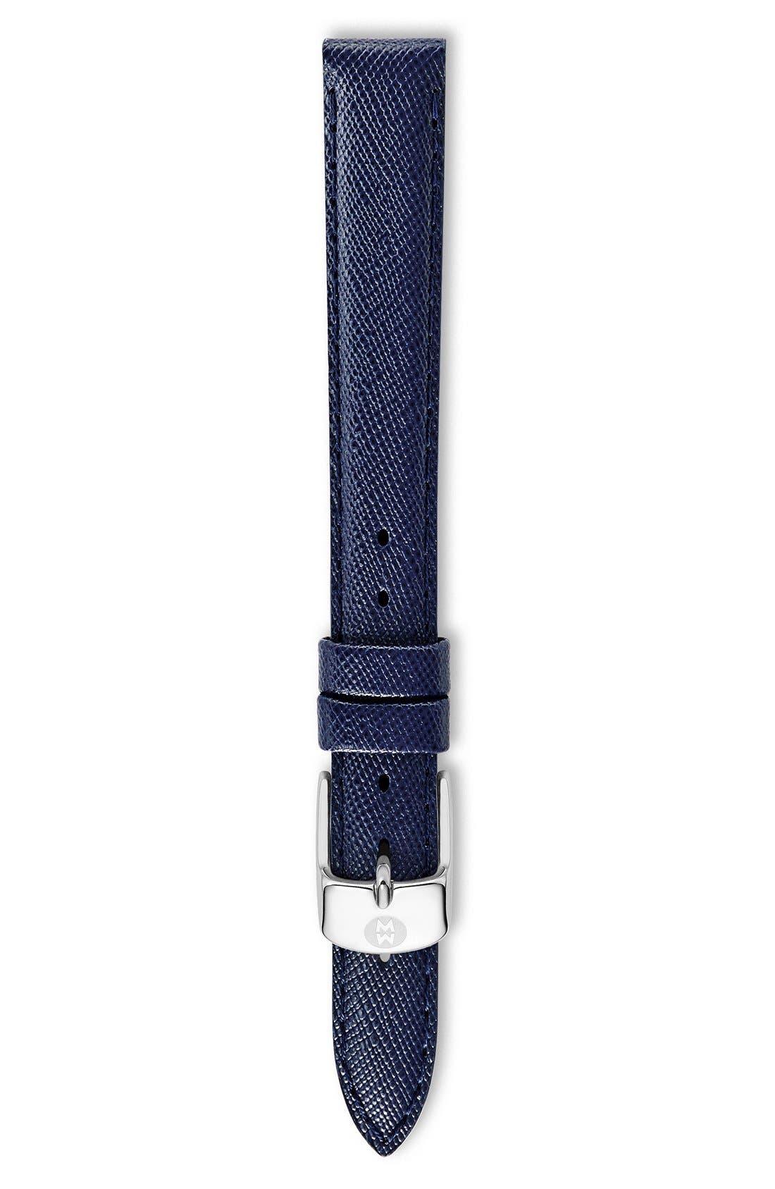 MICHELE 12mm Saffiano Leather Watch Strap