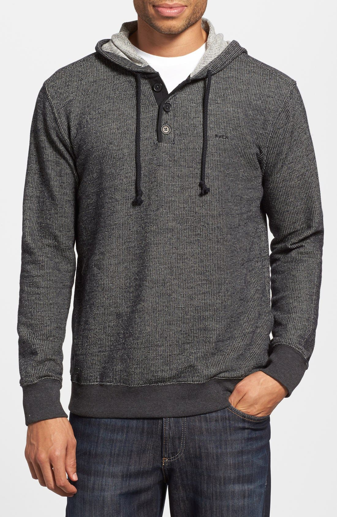 Main Image - RVCA 'Capo' Pullover Knit Hoodie
