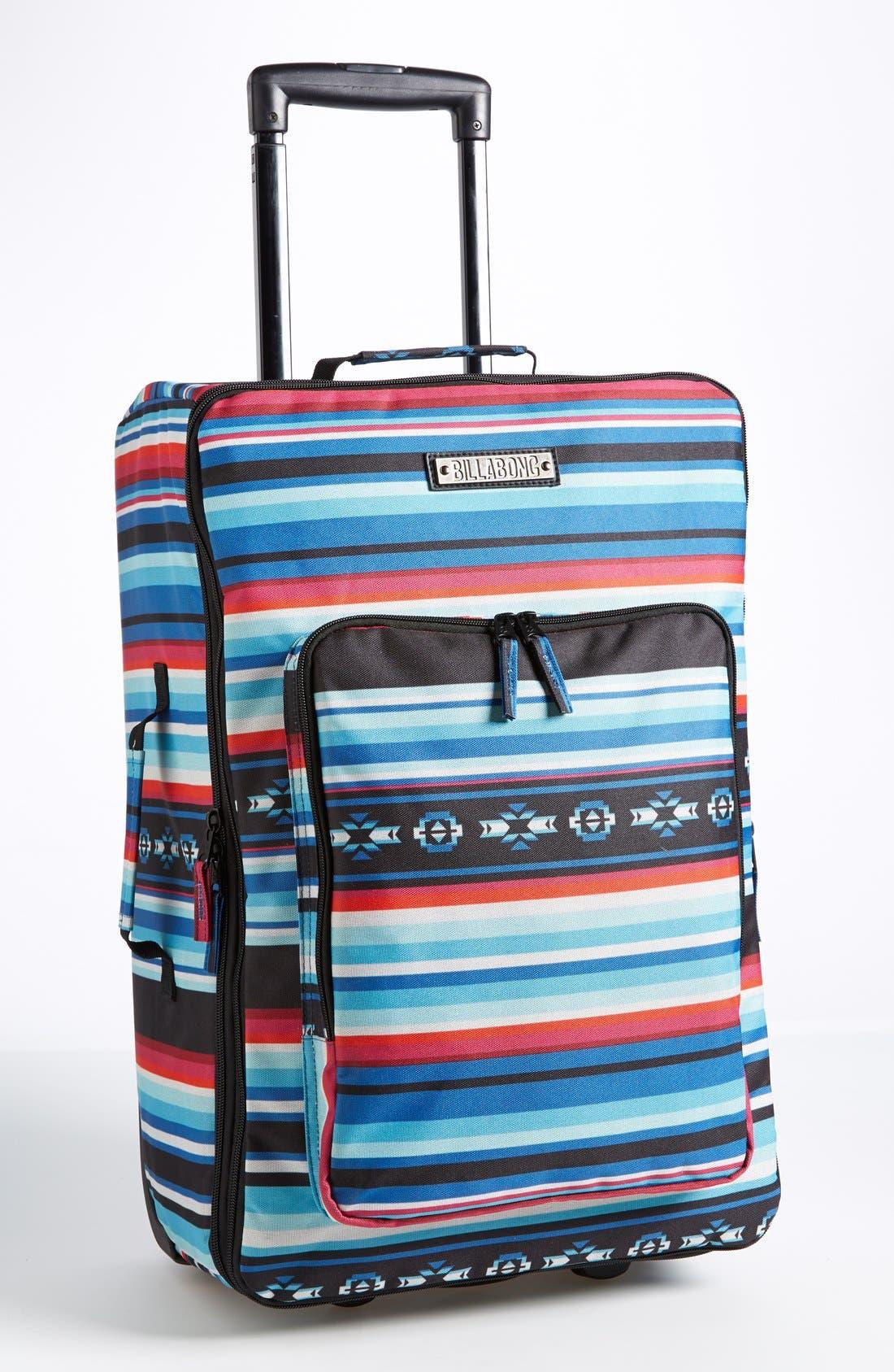 Alternate Image 1 Selected - Billabong 'Salty Tidez' Print Wheeled Bag (Juniors)