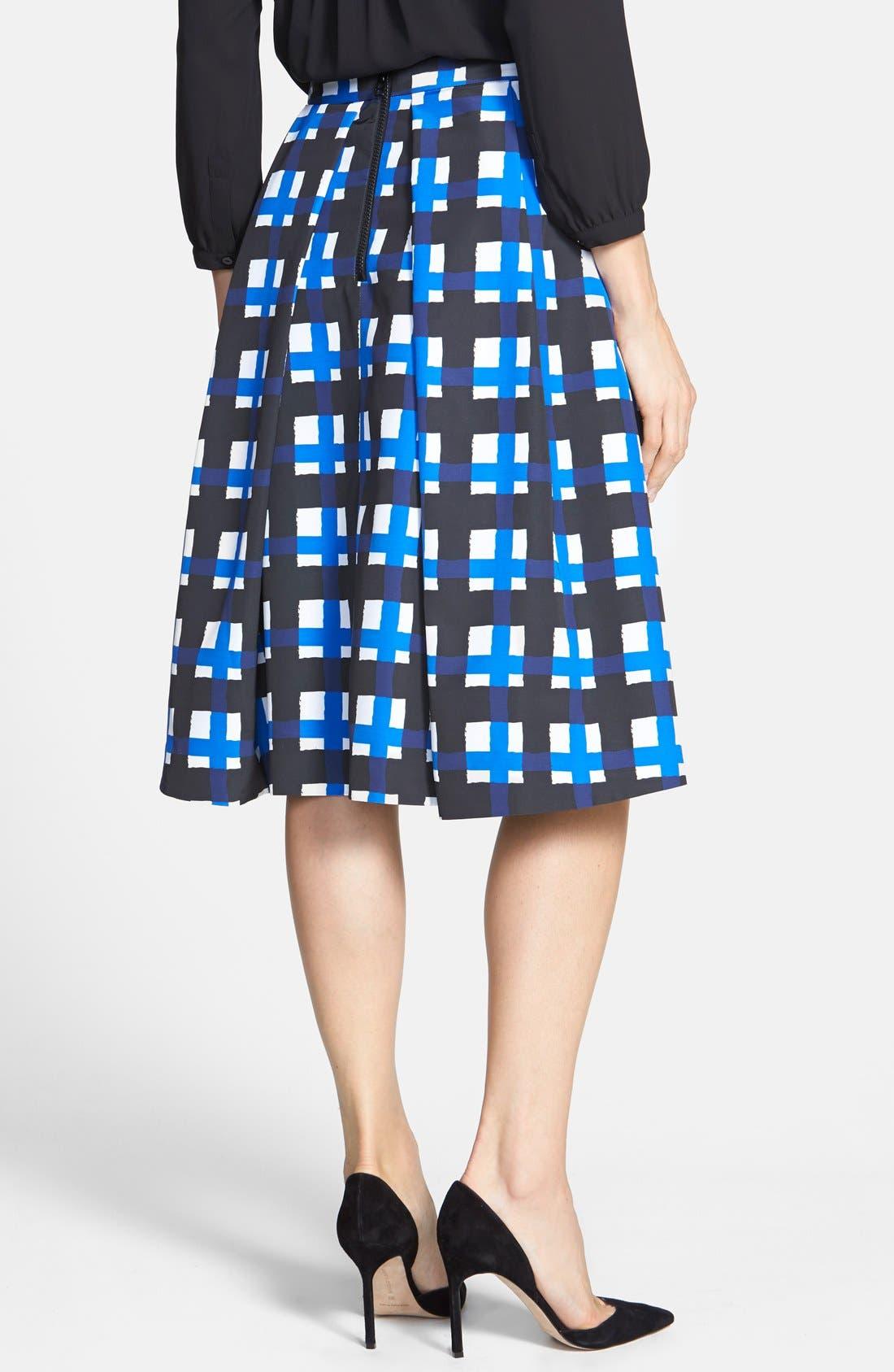 Alternate Image 2  - Pink Tartan 'Tabitha' Check Print Pleat Skirt