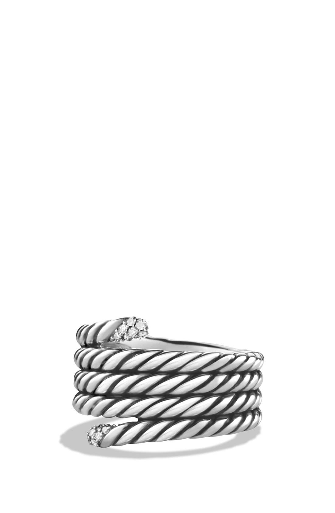 Alternate Image 1 Selected - David Yurman 'Willow' Serpentine Ring with Diamonds