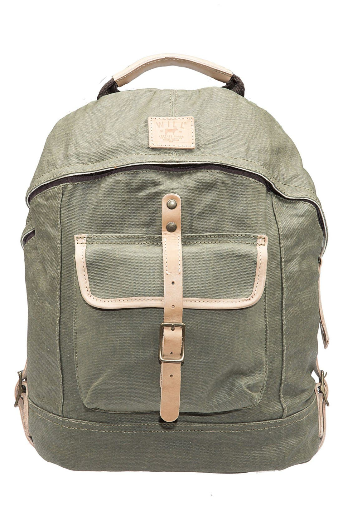 Alternate Image 1 Selected - Will Leather Goods Canvas Backpack