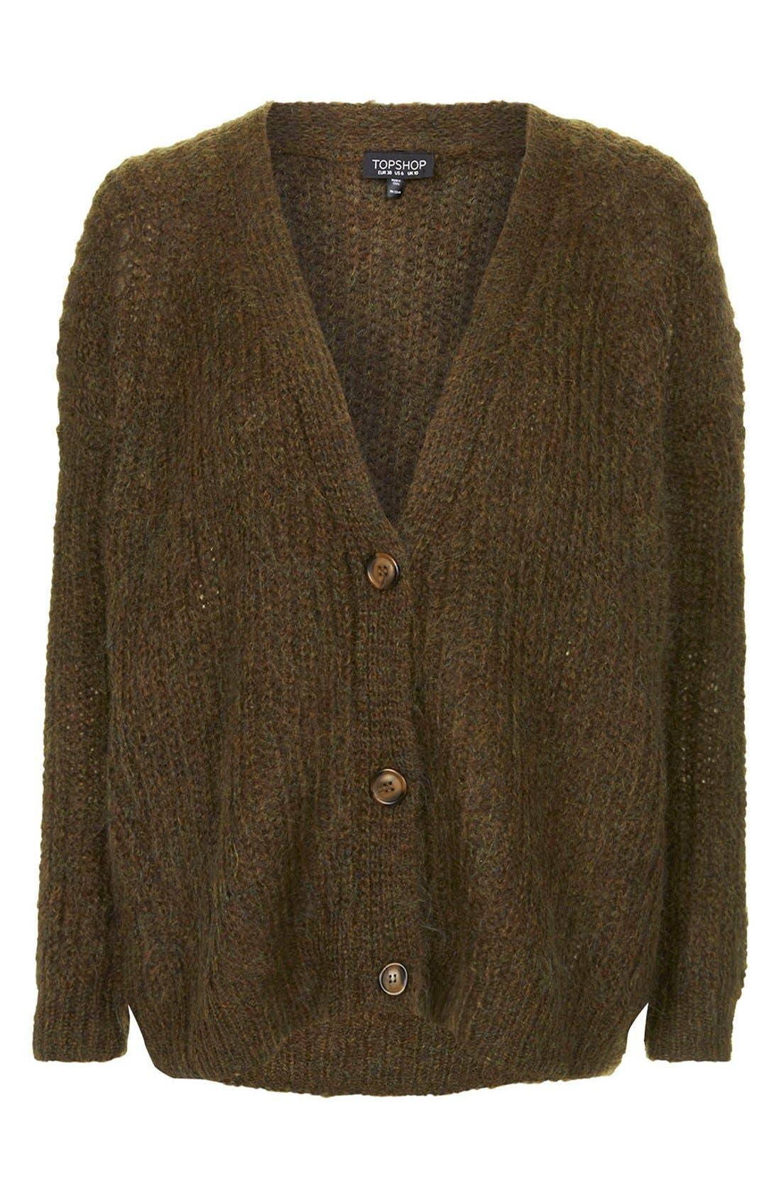 Alternate Image 3  - Topshop Luxe Cocoon Cardigan