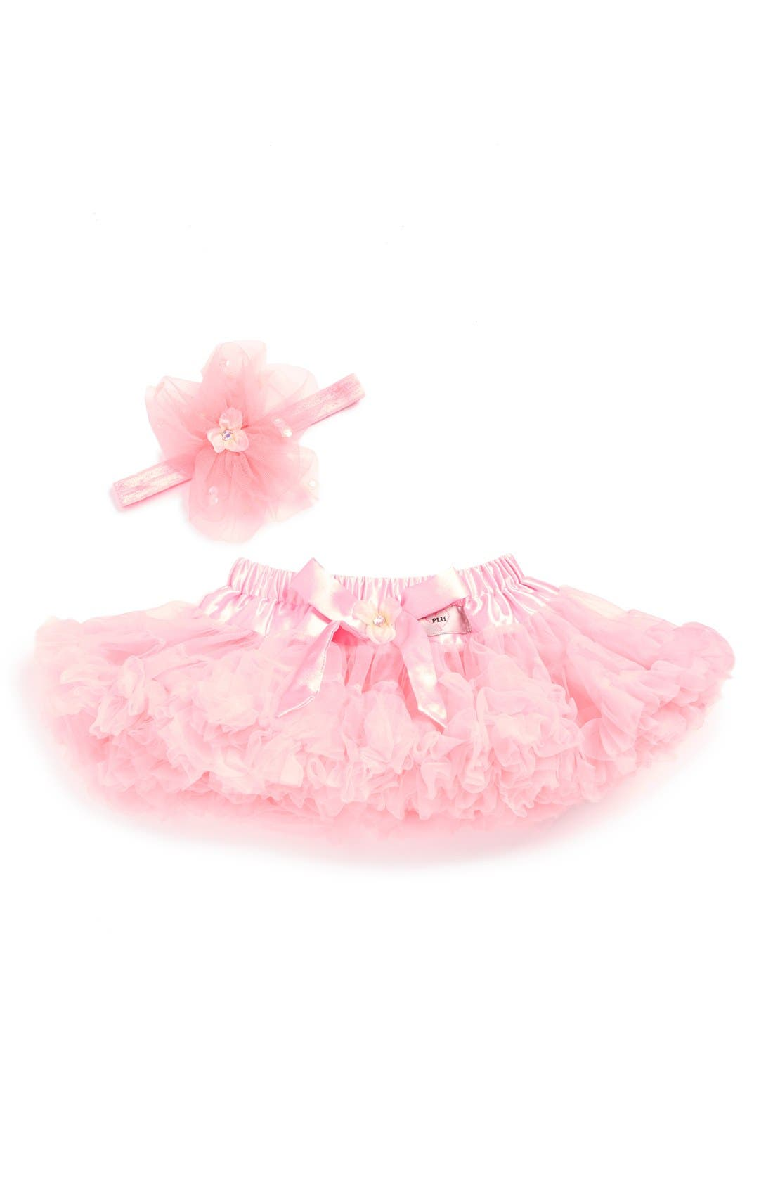 Alternate Image 1 Selected - PLH Bows & Laces Tutu & Headband Set (Baby)