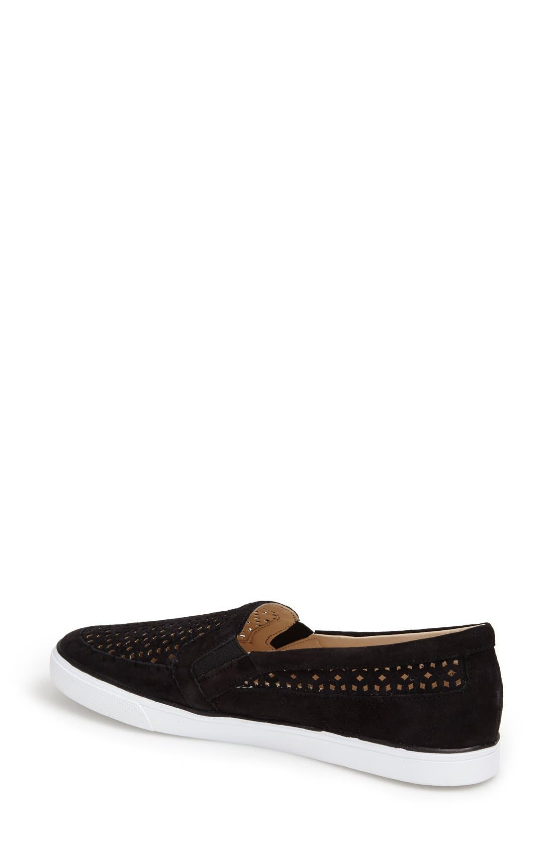Alternate Image 2  - Nine West 'Banter' Perforated Suede Slip-On Sneaker (Women)