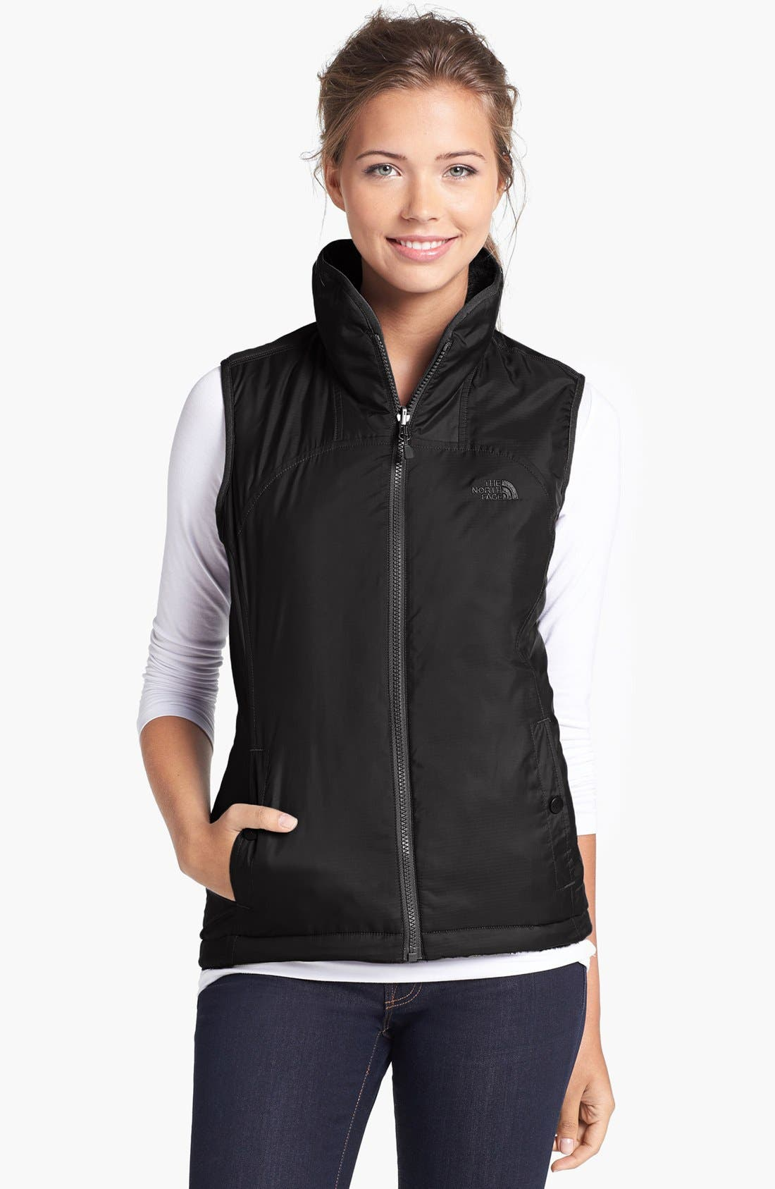 Alternate Image 1 Selected - The North Face 'Mossbud' Insulated Reversible Vest