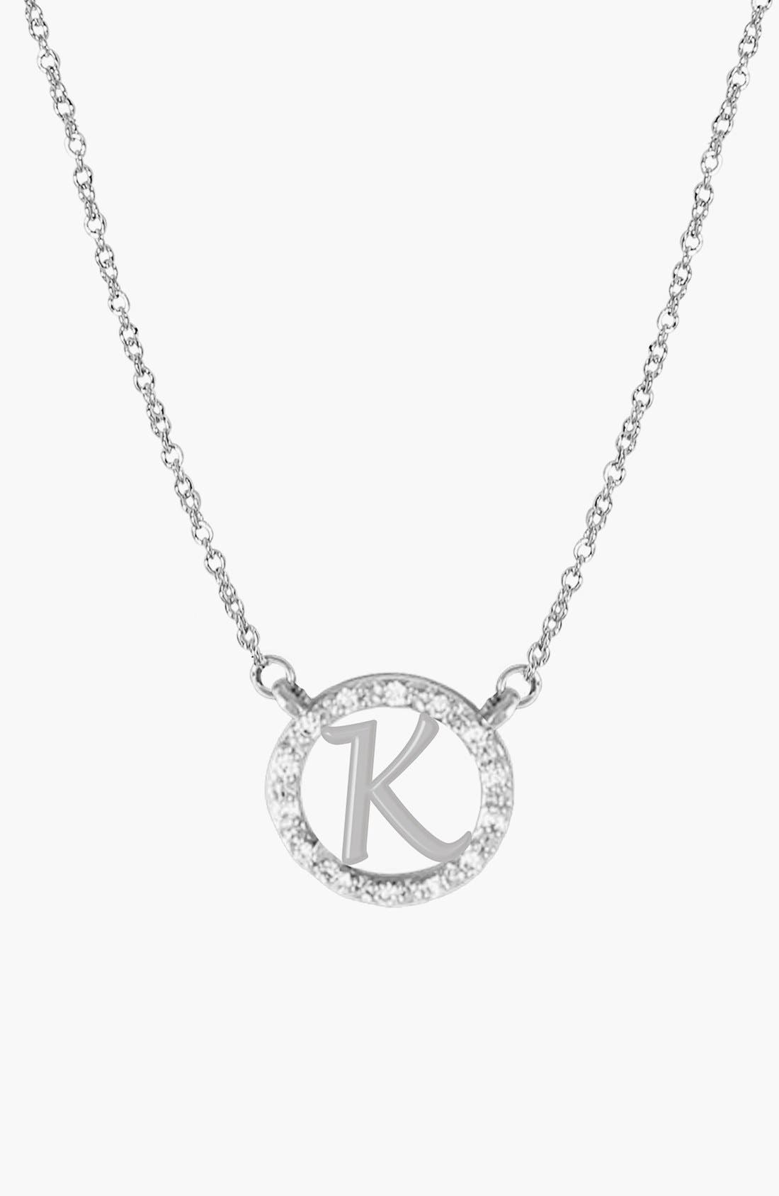 Jane Basch Designs Diamond Pavé Initial Pendant Necklace