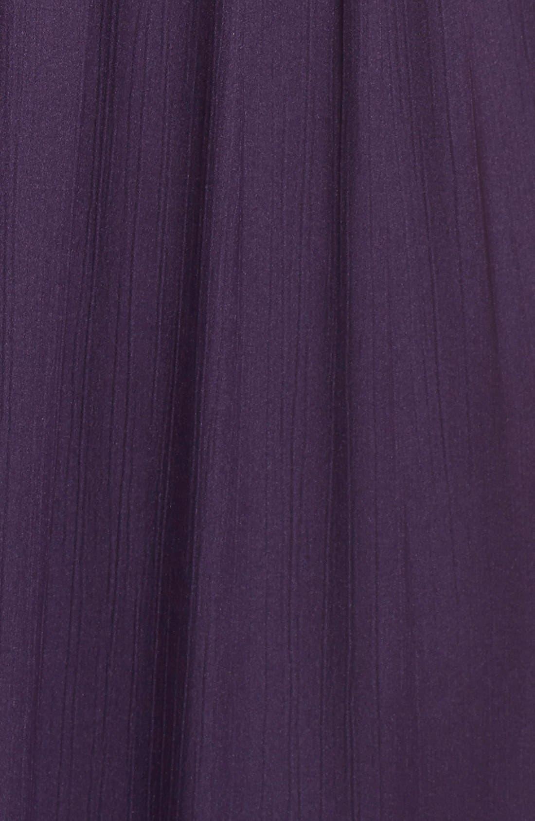 Alternate Image 3  - Adrianna Papell Sequin Shoulder Pleat Detail Chiffon Gown (Regular & Petite)