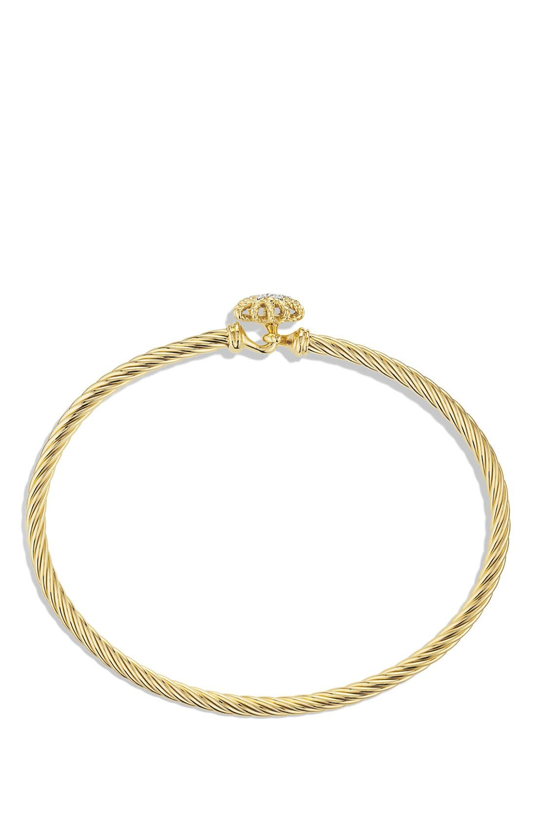 Alternate Image 2  - David Yurman 'Starburst' Single-Station Cable Bracelet with Diamonds in Gold