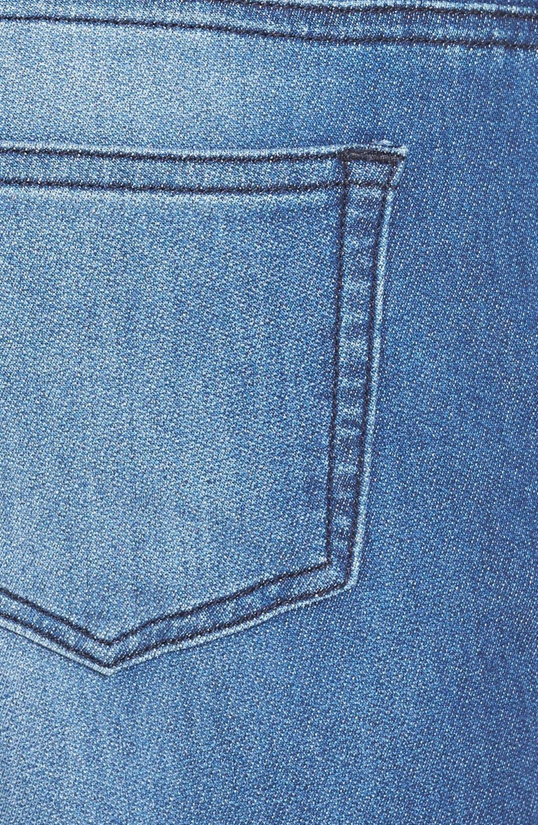 Alternate Image 3  - SP Black Denim Print Knit Crop Jogger Pants