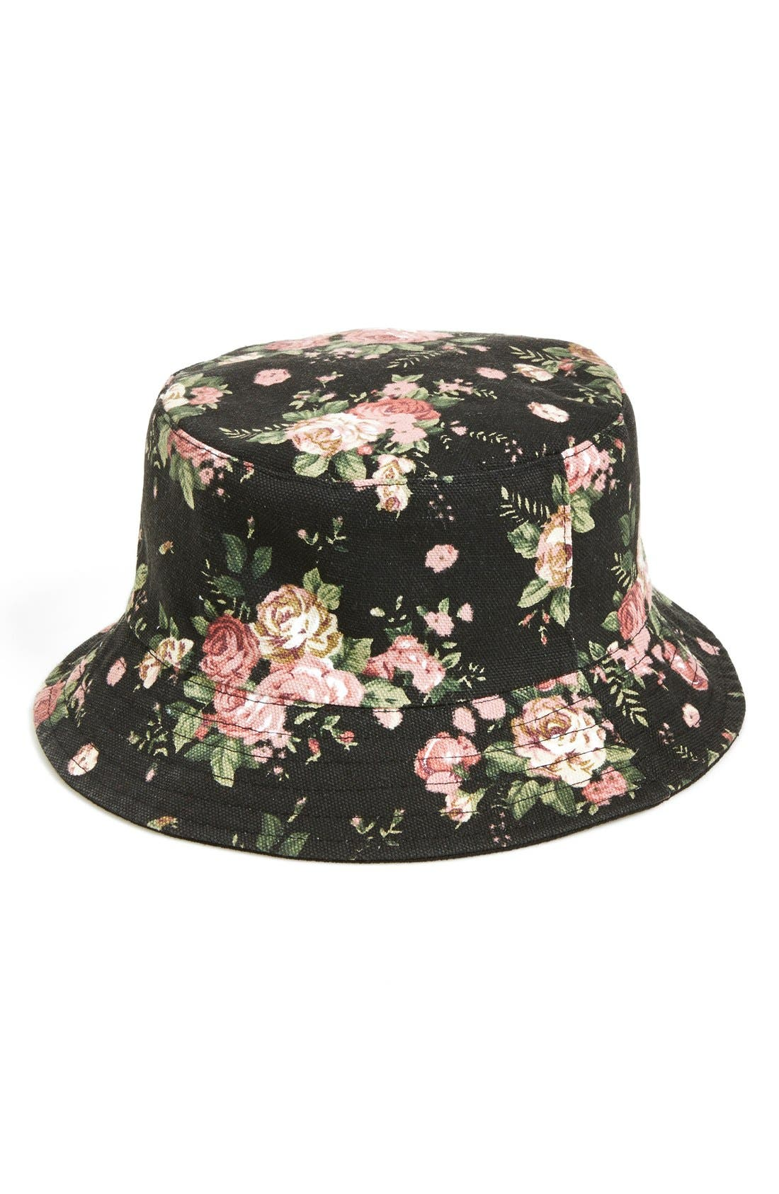 Alternate Image 1 Selected - Amici Accessories Reversible Bucket Hat (Juniors)