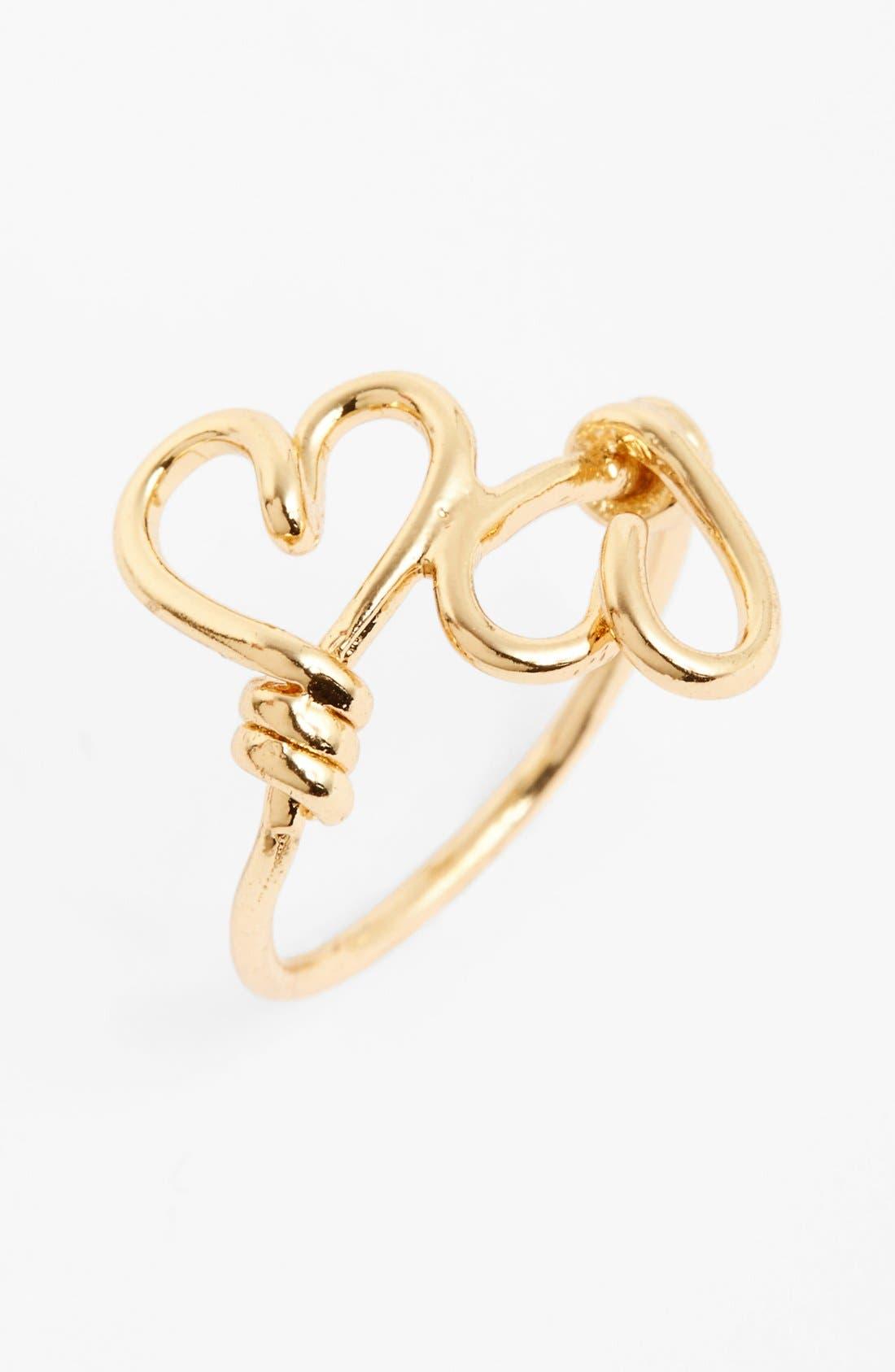 Main Image - Topshop Heart Wrap Midi Ring