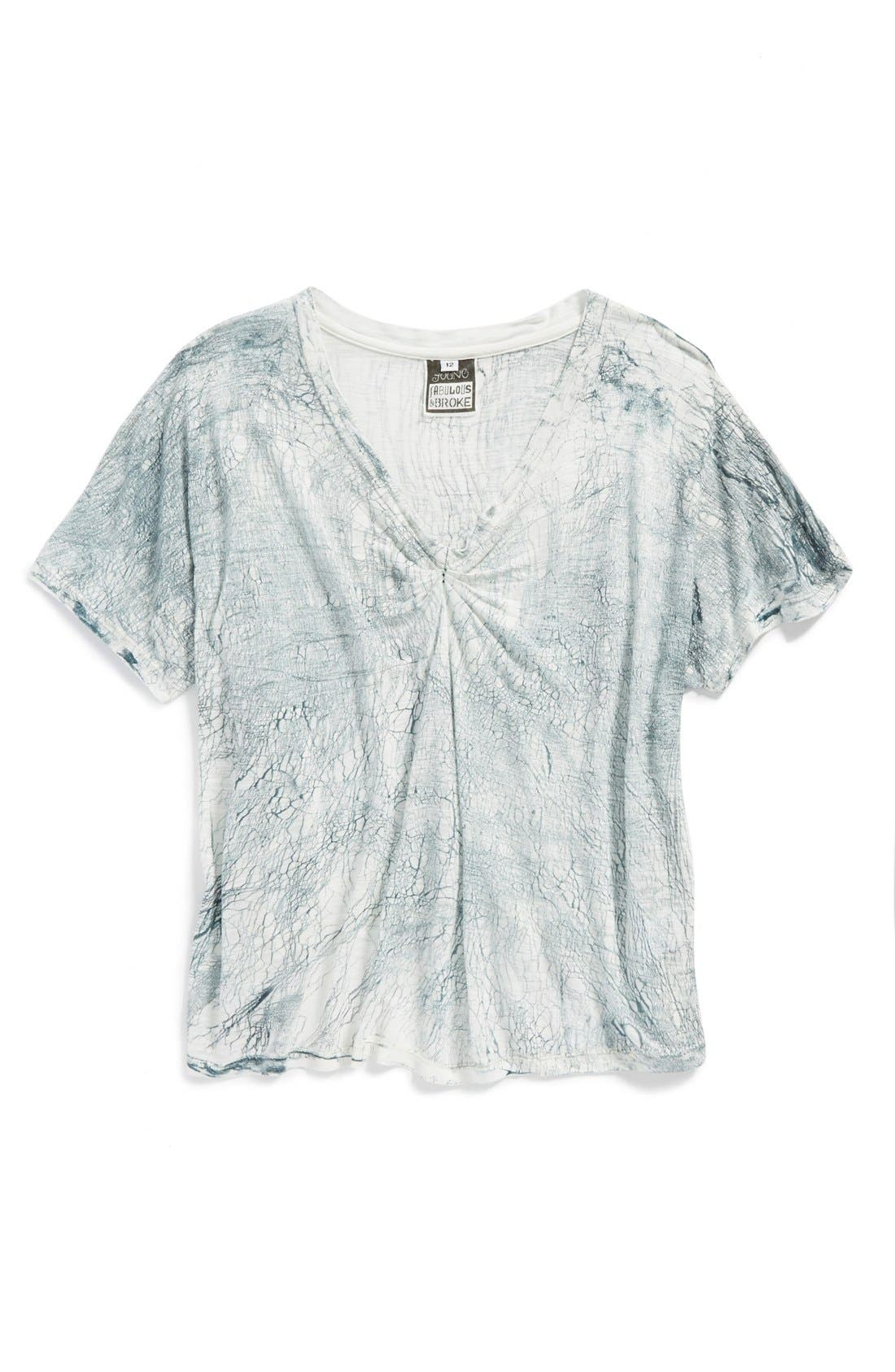 Alternate Image 1 Selected - Young, Fabulous & Broke 'Jerrica' Slouchy V-Neck Top (Little Girls & Big Girls)