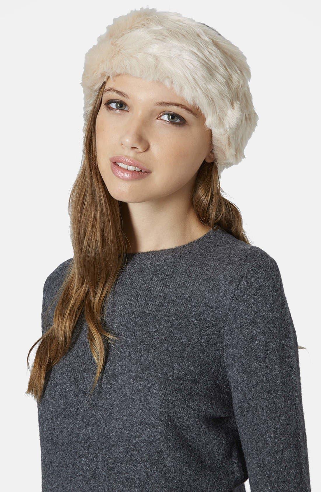 Alternate Image 2  - Topshop Faux Fur Headband
