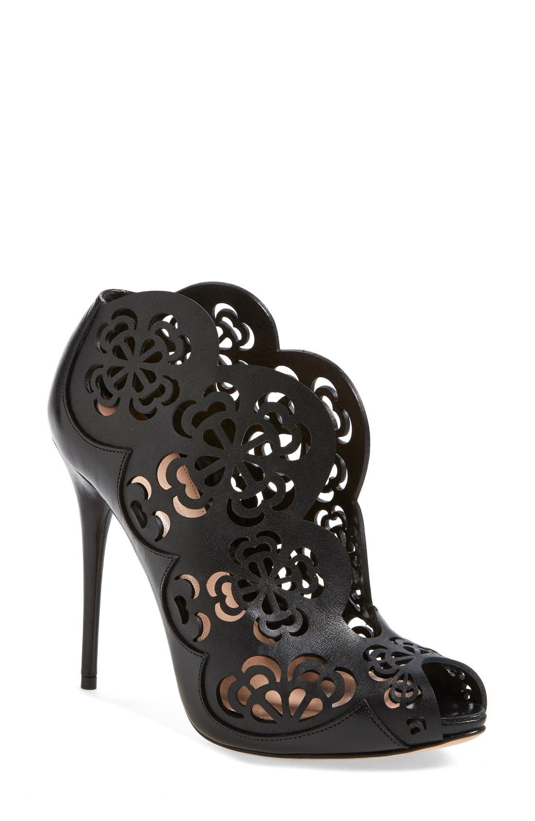 Alternate Image 1 Selected - Alexander McQueen Laser Cut Bootie (Women)