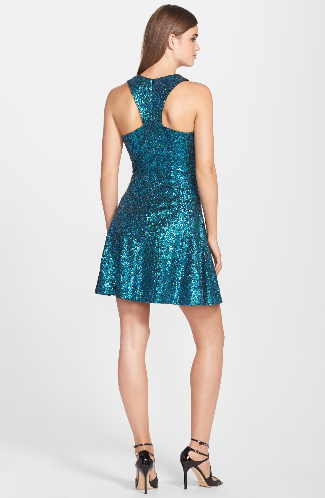 Alternate Image 2  - Dress the Population 'Helene' Sequin Fit & Flare Dress