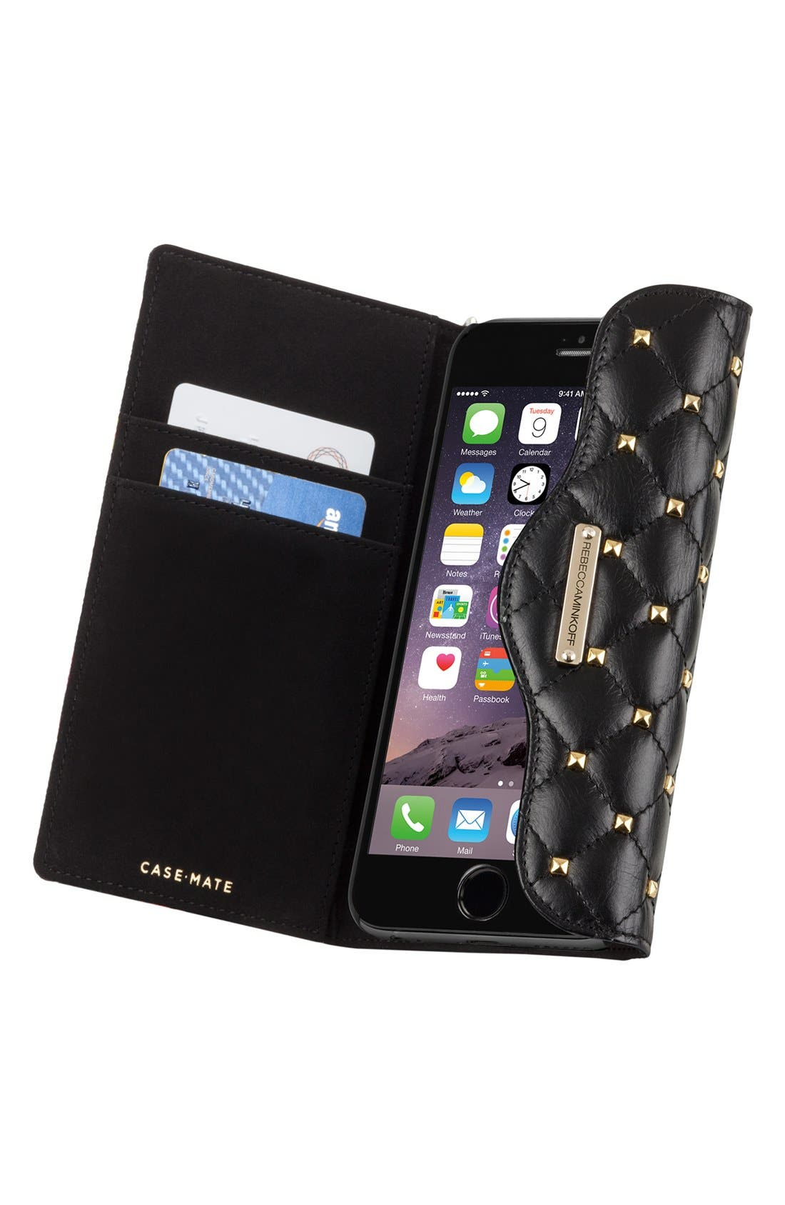 Alternate Image 3  - Rebecca Minkoff x Case-Mate iPhone 6 Plus Quilted Wristlet