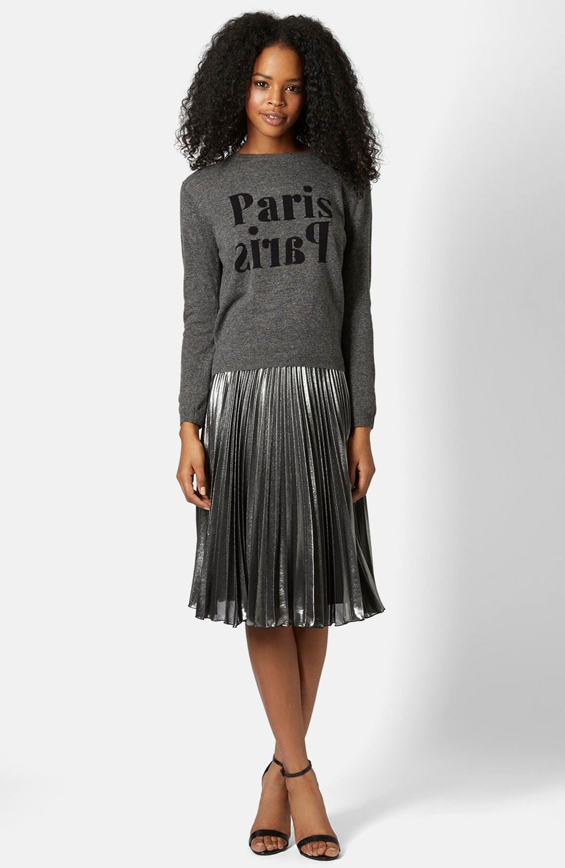 Alternate Image 5  - Topshop Pleated Midi Skirt