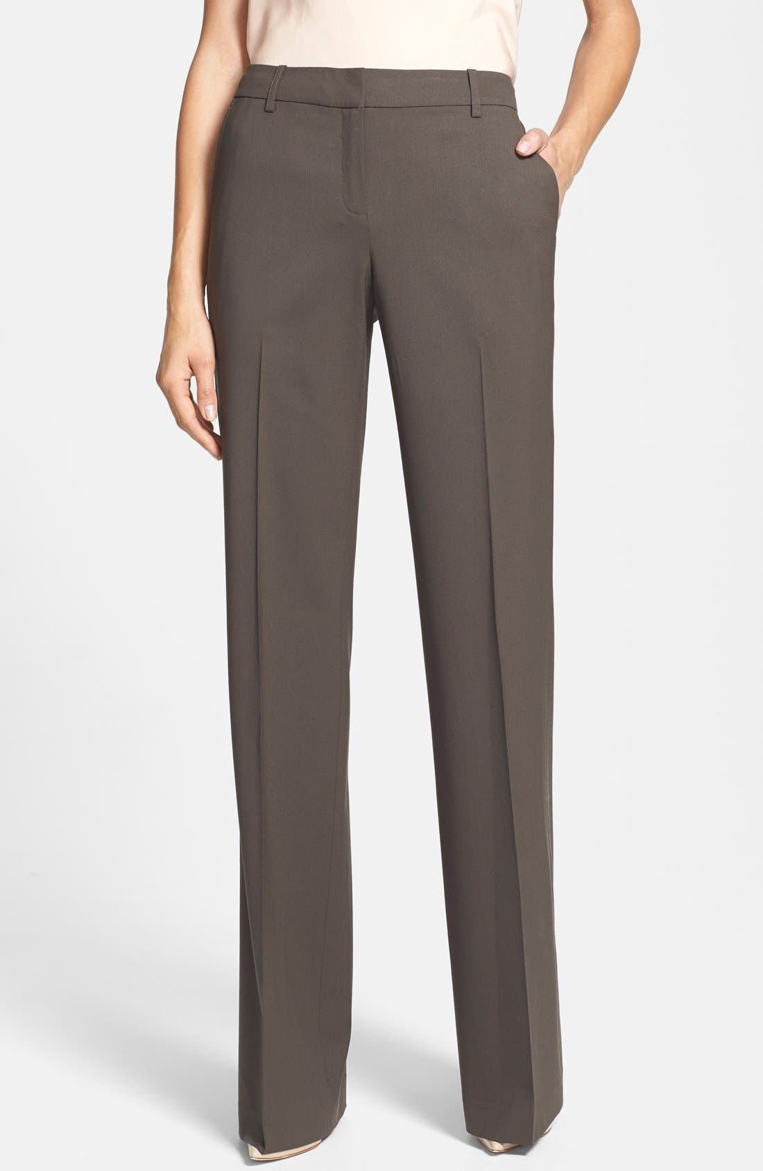 Alternate Image 1 Selected - Lafayette 148 New York Stretch Wool Pants