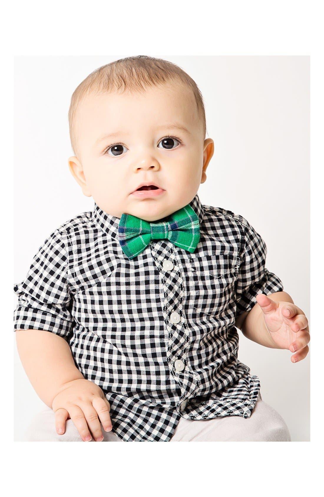 Alternate Image 3  - Baby Bow Tie Plaid Cotton Bow Tie (Baby Boys)