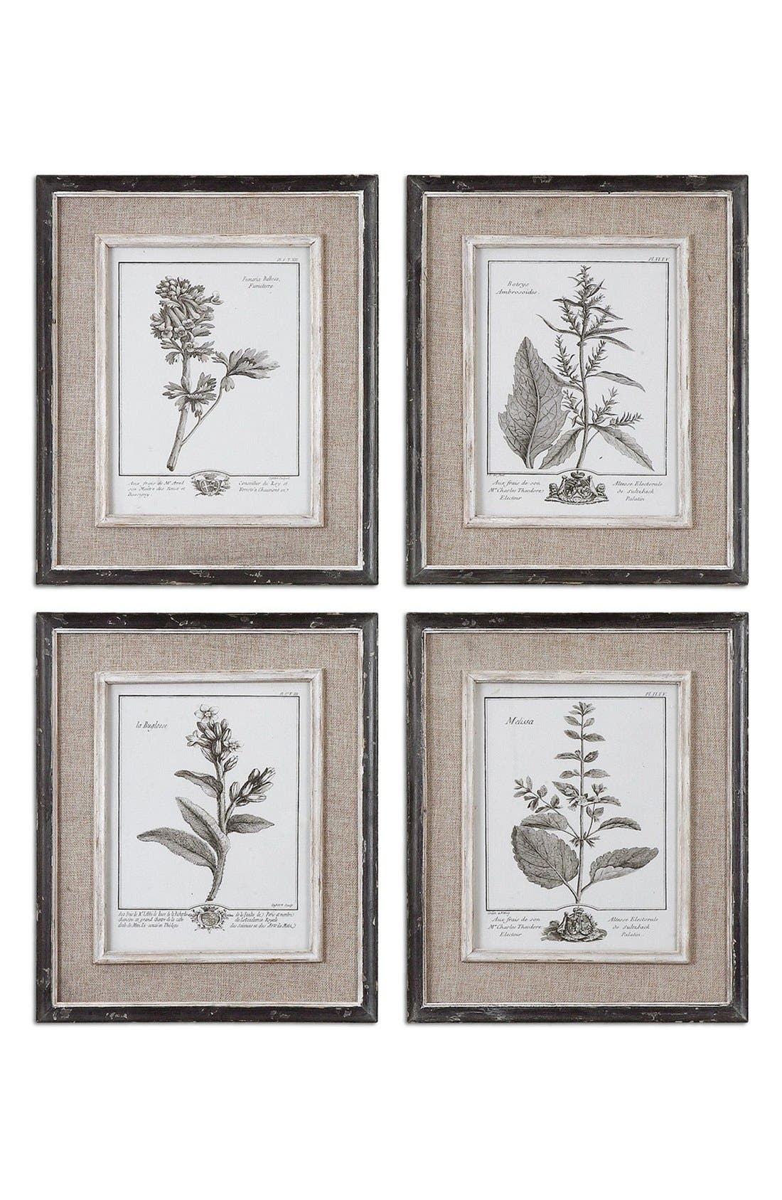 Uttermost 'Casual Grey Study' Wall Art (Set of 4)