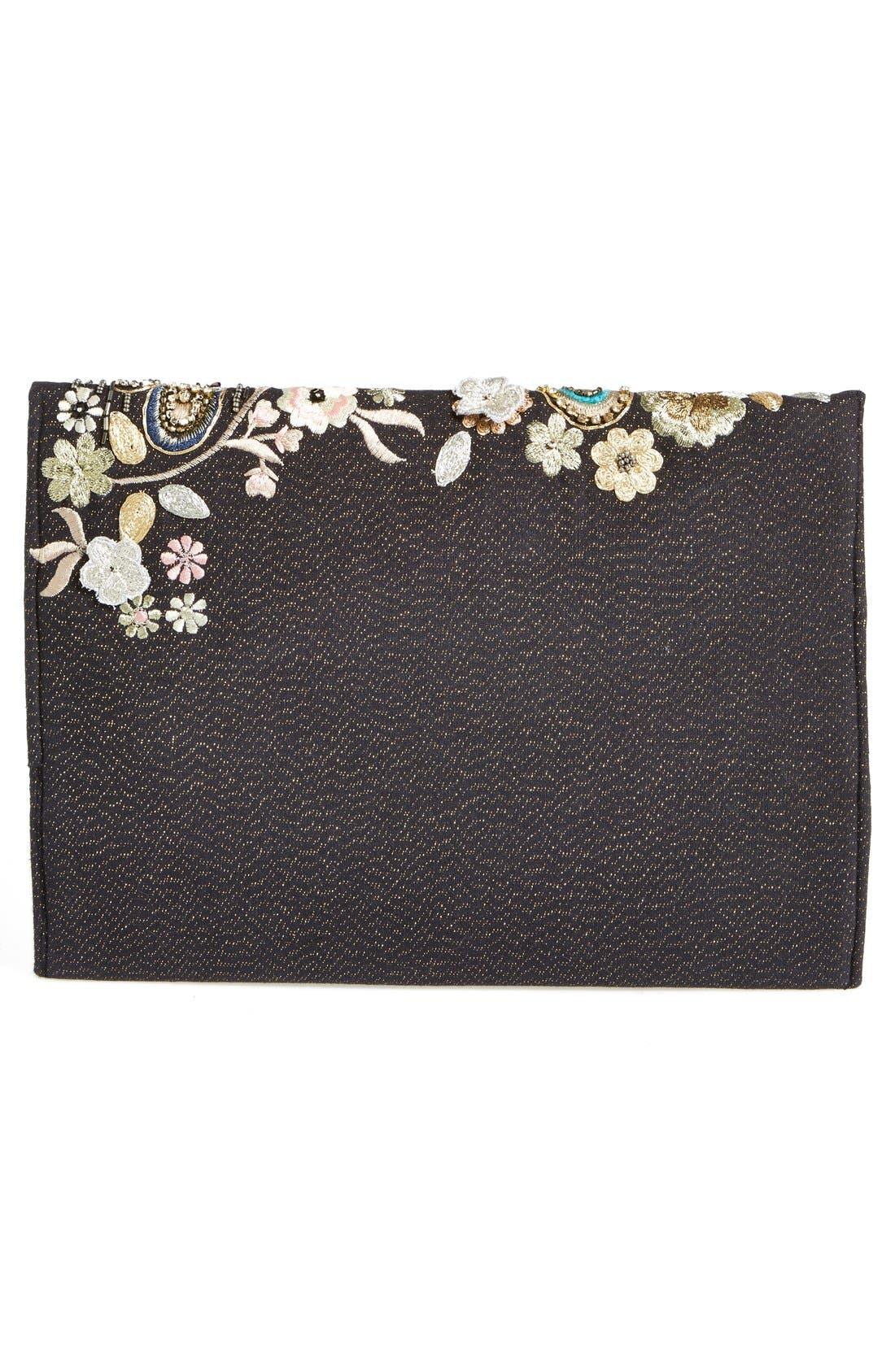 Alternate Image 4  - Berry Beaded Dragonfly Oversize Clutch