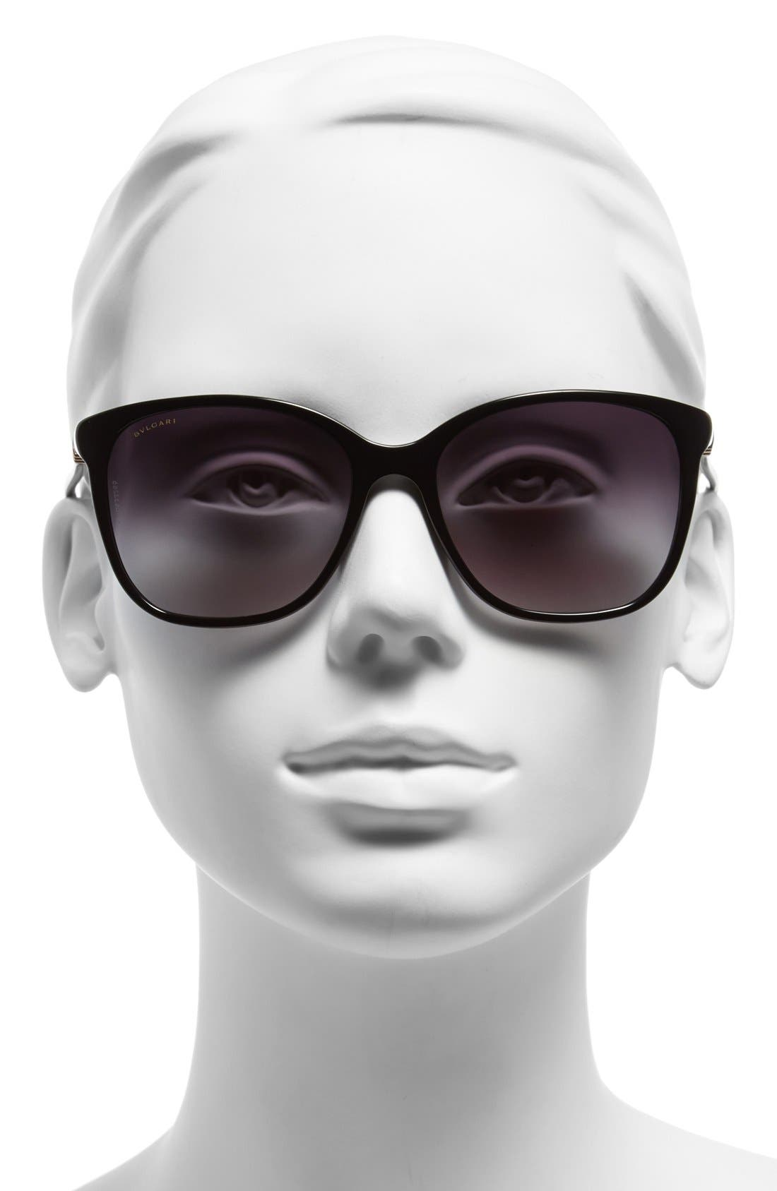 Alternate Image 2  - BVLGARI 56mm Gradient Sunglasses