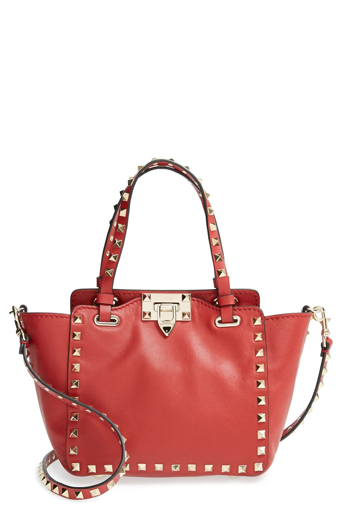 Main Image - Valentino 'Micro Mini Rockstud' Leather Tote