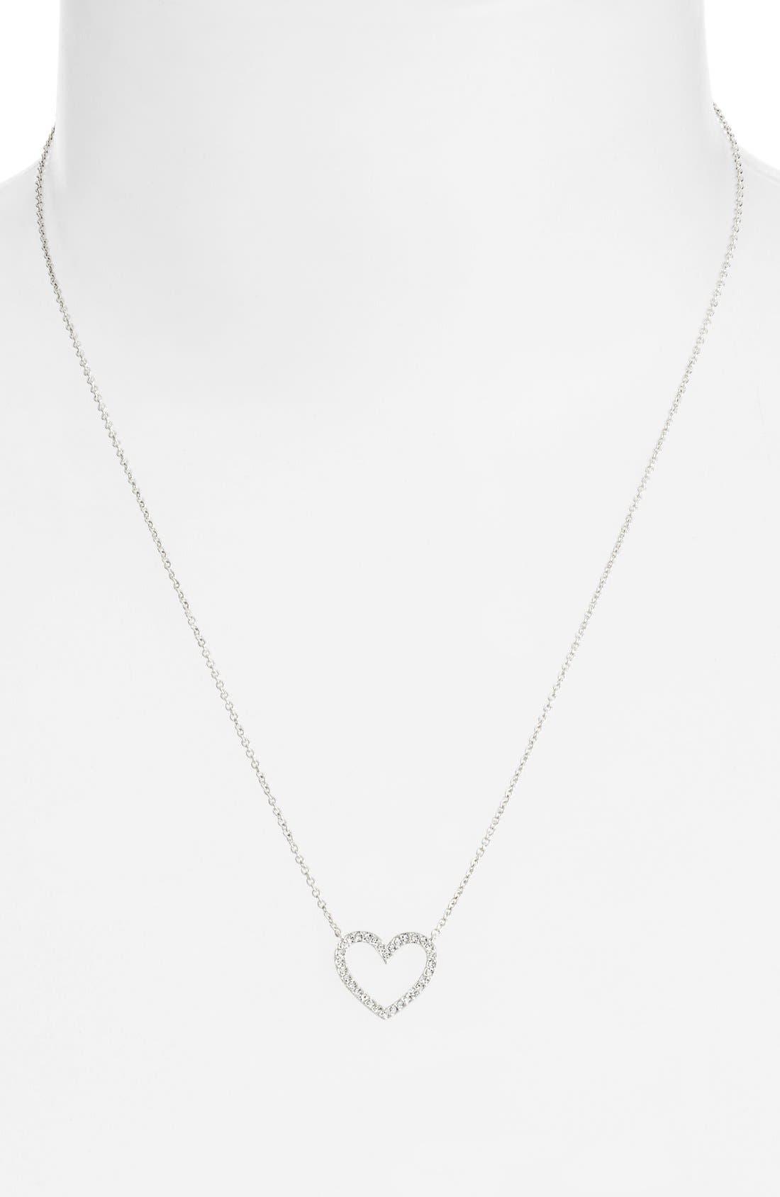 Alternate Image 2  - Nadri Boxed Heart Pendant Necklace