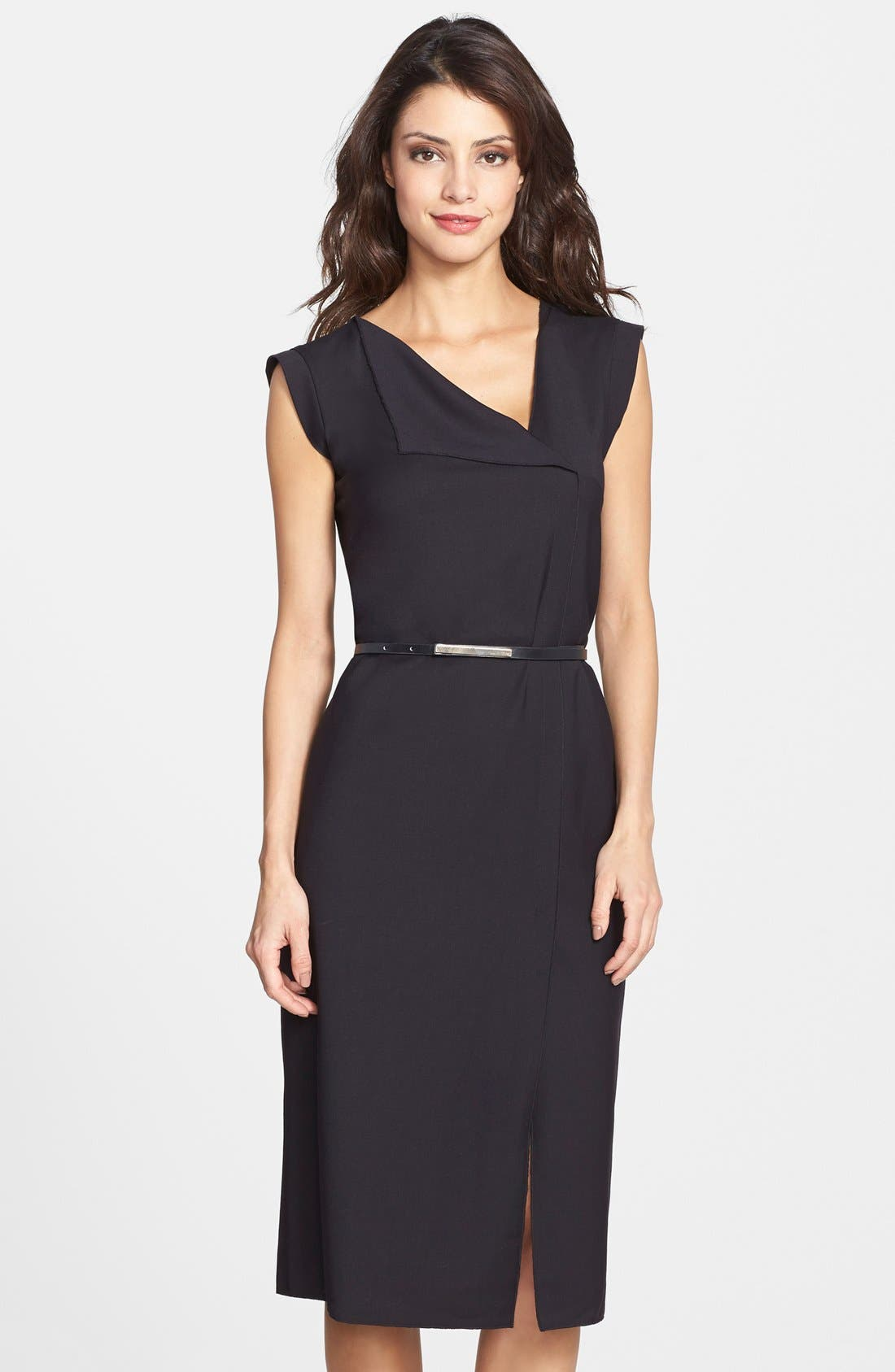 Main Image - French Connection 'Frankie' Belted Suiting Dress (Online Only)