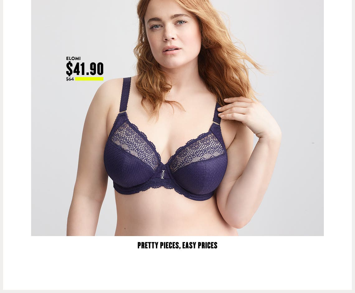 Anniversary Sale plus-size lingerie: pretty pieces, easy prices.