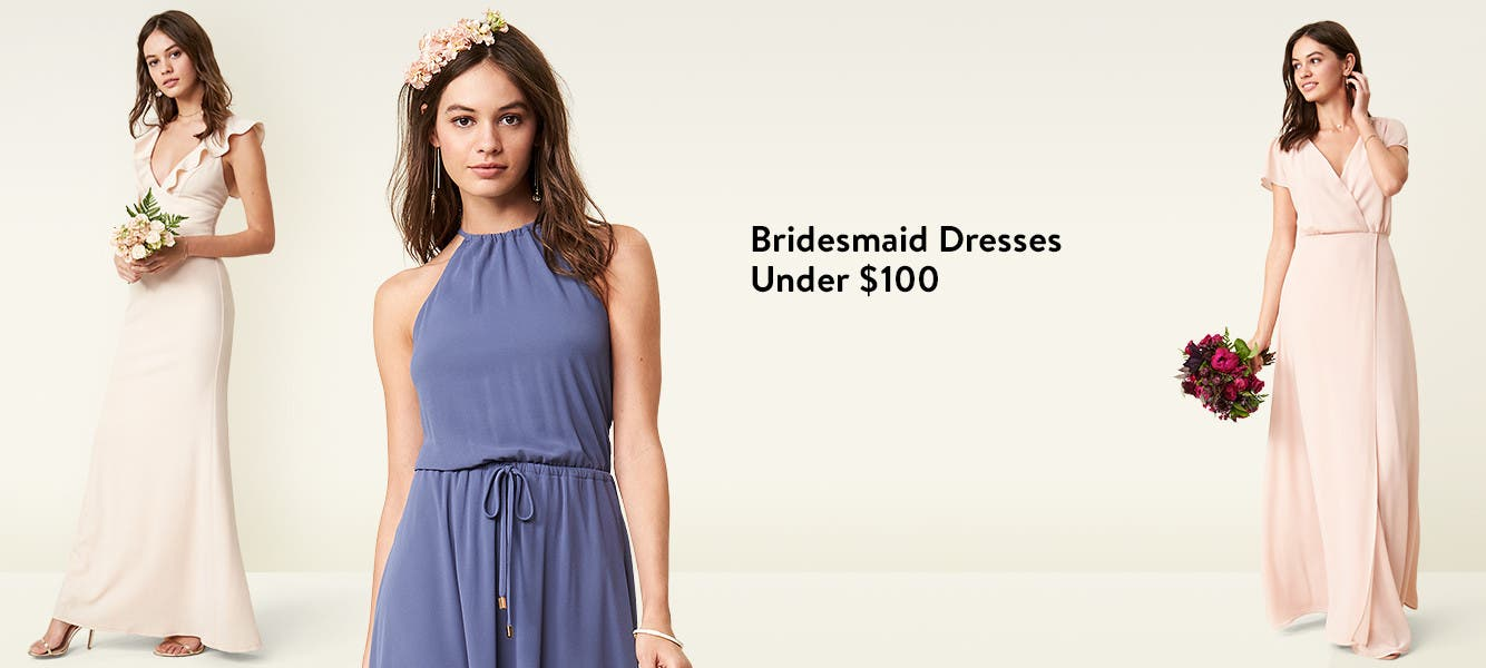 Bridesmaid dresses under $100 from Lulus and more.