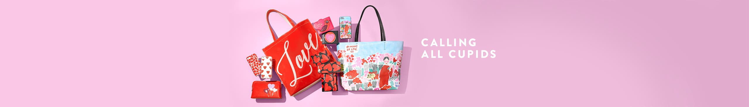 Calling all cupids: women's handbag gifts.