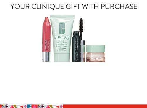 Clinique gift with purchase.