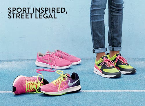 Sport inspired, street legal: back-to-school girls' sneakers.