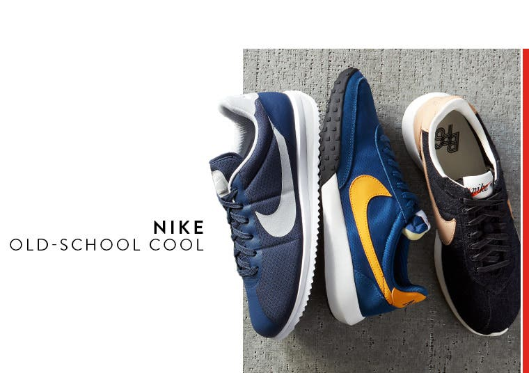 Nike, old-school cool.