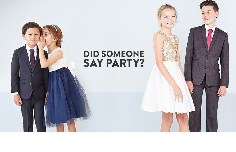 Kids' and baby special occasion and party clothing.