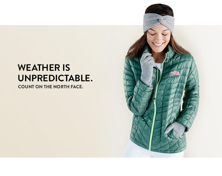 Count on the north face: lightweight outerwear for cold, wet weather.