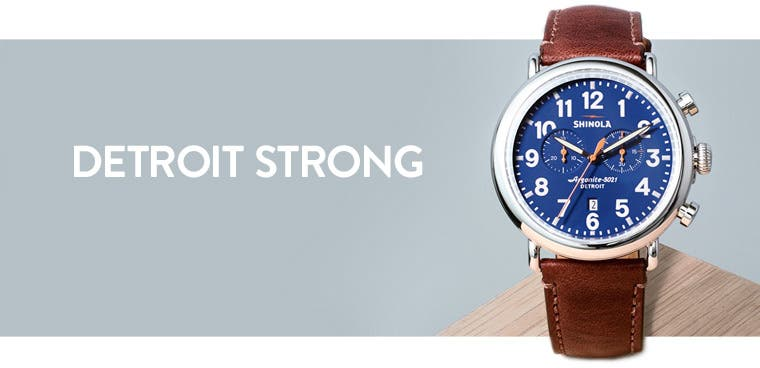 Detroit strong: Shinola watches for men.