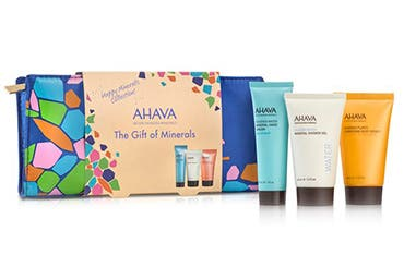 AHAVA gift with purchase.