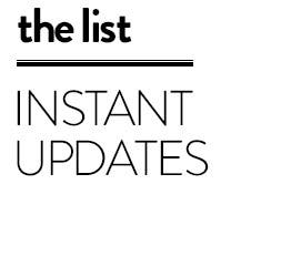 The list: instant updates.
