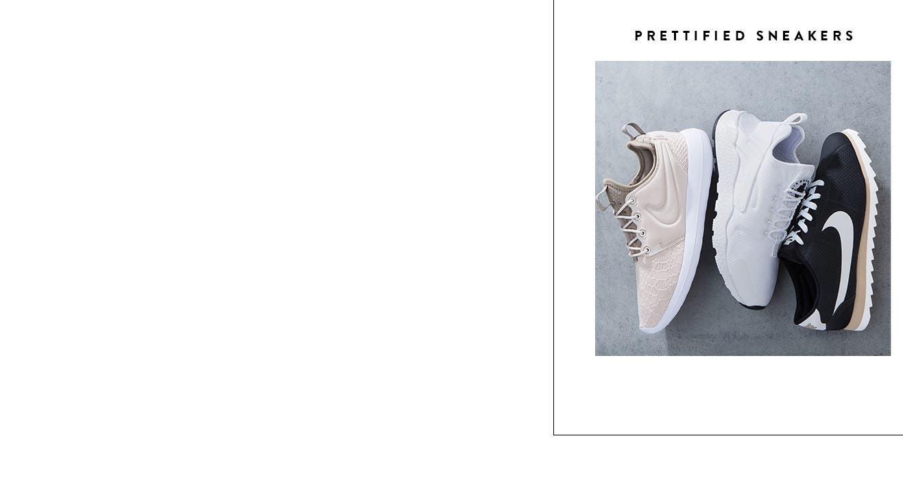 Prettified trend sneakers for women.
